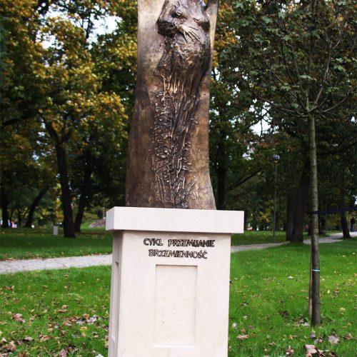 Rzeźba kameralna - aranżacja parku w Kostrzynie nad Odrą